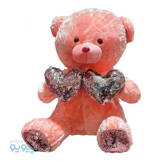 عروسک خرس دو قلب
