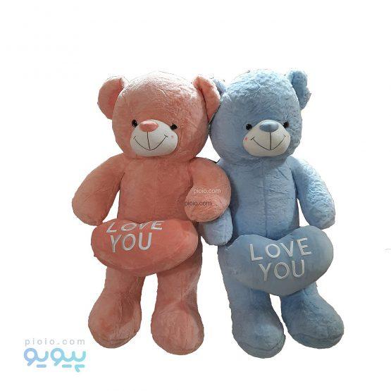 عروسک خرس قلب بدست Love You