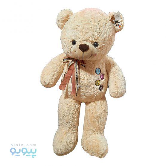 عروسک خرس پاپیون دار L O V E