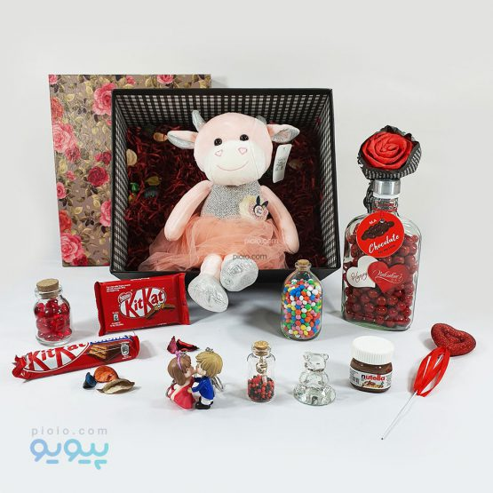 هدیه آماده روز ولنتاین با عروسک گاو