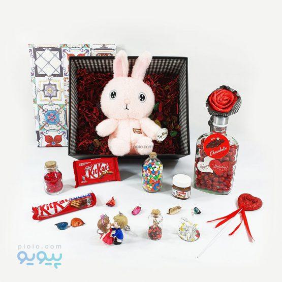 کادو ولنتاین با عروسک خرگوش حوله ای
