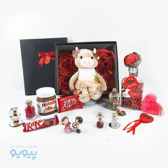 کادو روز ولنتاین با عروسک خوک شاخدار