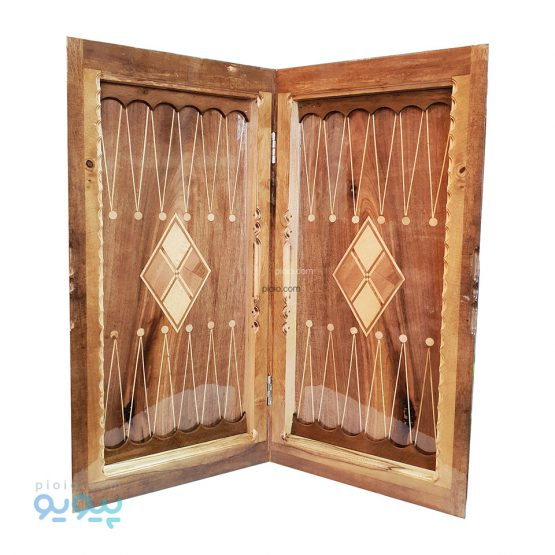 تخته نرد چوبی لبه گرد لوزی
