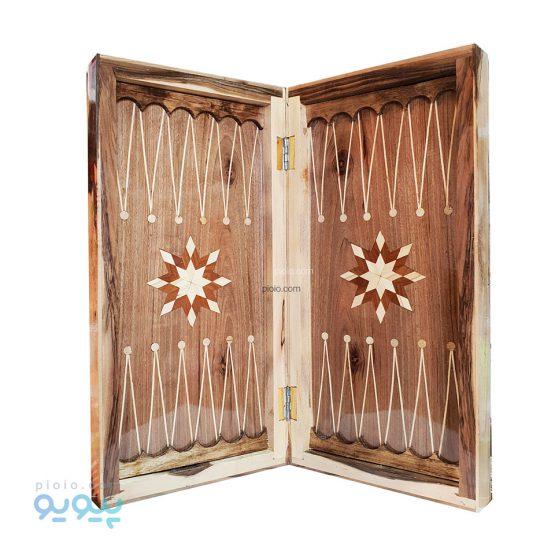 تخته نرد سنتی چوب گردو طرح ستاره درخشان