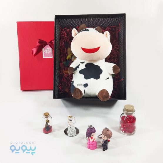 هدیه تولد با عروسک گاو تپل خندان