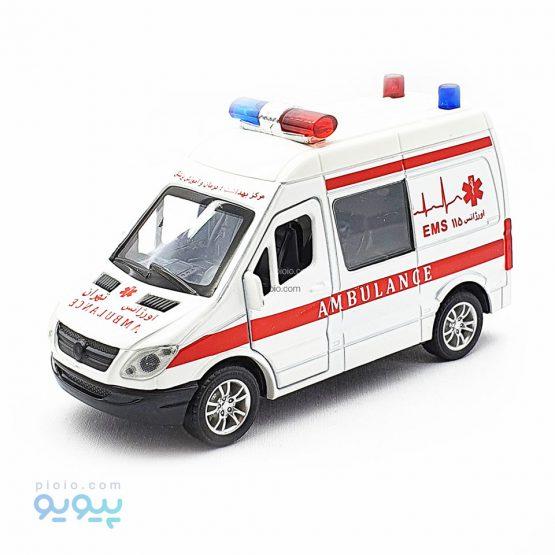 ماکت ماشین فلزی آمبولانس 115