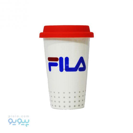 ماگ سرامیکی طرح Fila با درب سیلیکونی