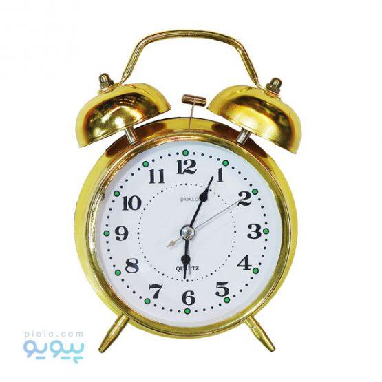 ساعت رومیزی طلایی زنگ دار