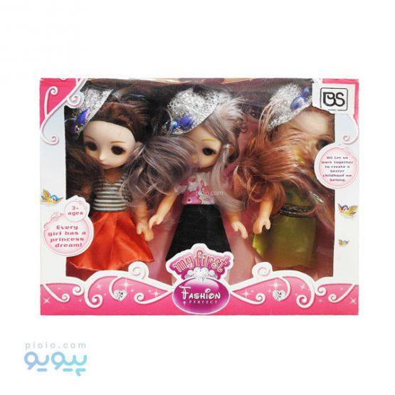 مجموعه 3 عددی عروسک دختر