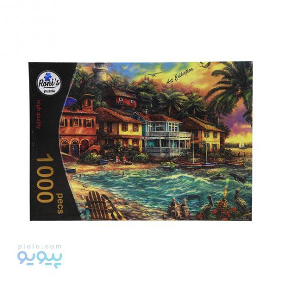 پازل 1000 تکه طرح خانه های ساحلی