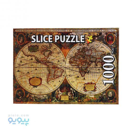 پازل 1000 تکه طرح نقشه جهان