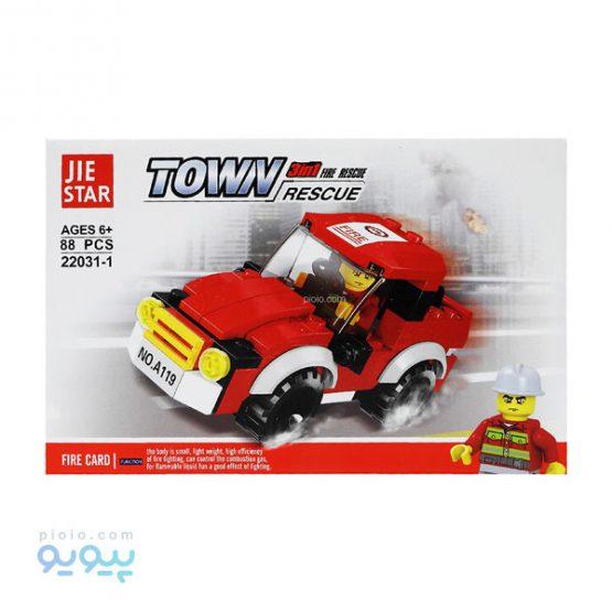 لگو ساختنی ماشین آتشنشانی کد 1-22031