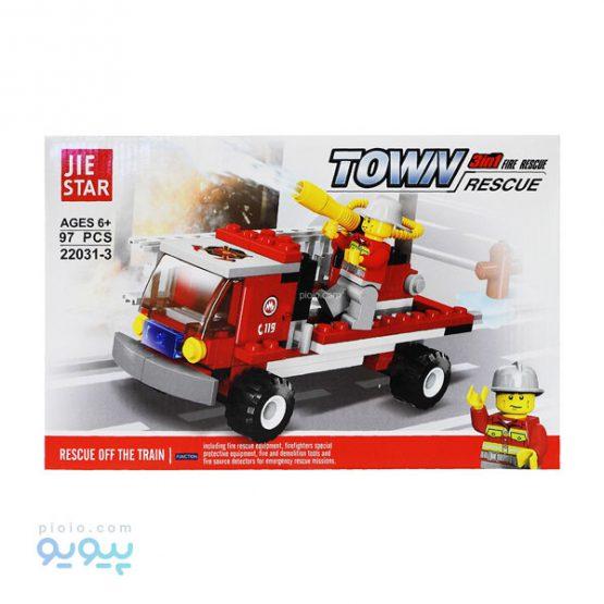 لگو ساختنی ماشین آتشنشانی کد 3-22031