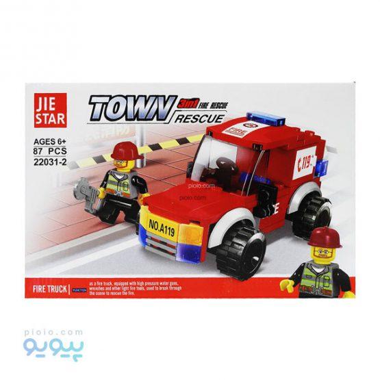 لگو ساختنی ماشین آتشنشانی کد 2-22031