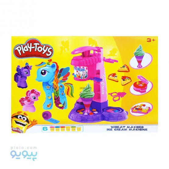 ست خمیر بازی دستگاه بستنی ساز PLAY TOYS