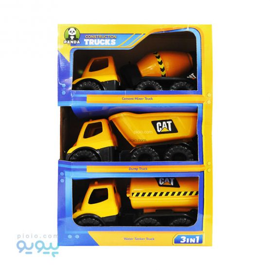 پک سه تایی ماشین اسباب بازی ساختمان سازی