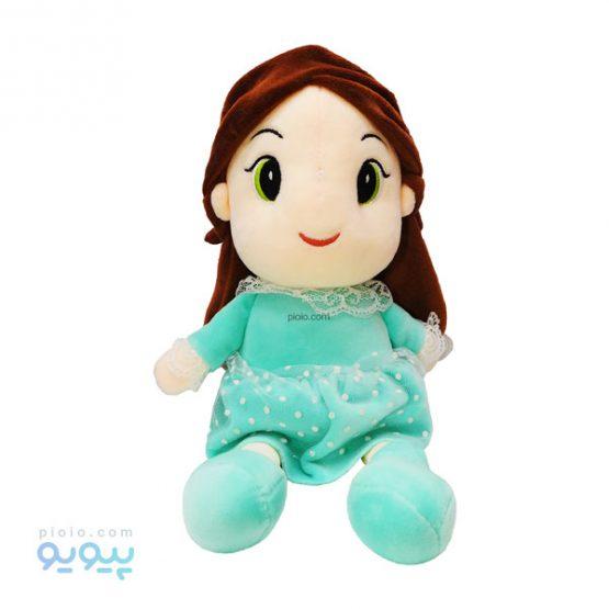 عروسک دختر آبی فیروزه ای مومخملی