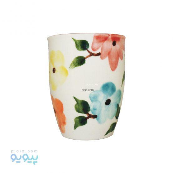 لیوان بدون دسته طرح بهار گل ها