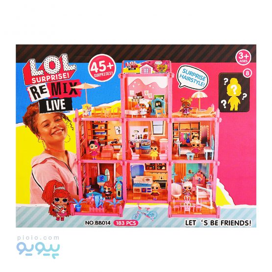 اسباب بازی ویلای 3 طبقه NO.BB014