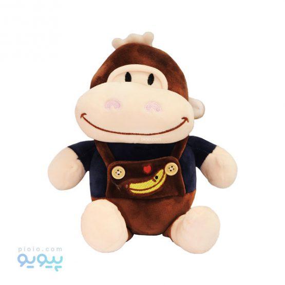 عروسک میمون لباس موز قلبی