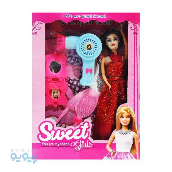عروسک باربی با سشوار مدل SWEET GIRLS