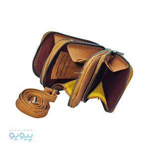 کیف چرم foreveryoung رودوشی سه زیپی
