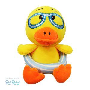 عروسک اردک با عینک و تیوپ شنا
