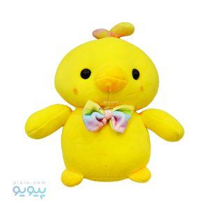 عروسک جوجه کاکلی با پاپیون رنگی رنگی