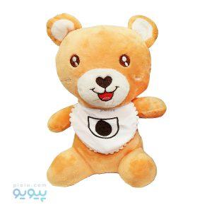 عروسک نوزاد خرس با پیشبند سفید