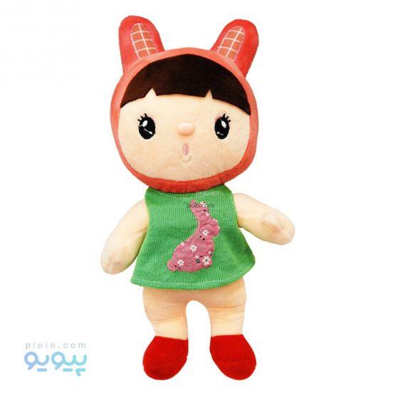 عروسک دختر کلاه خرگوشی با لباس کبریتی