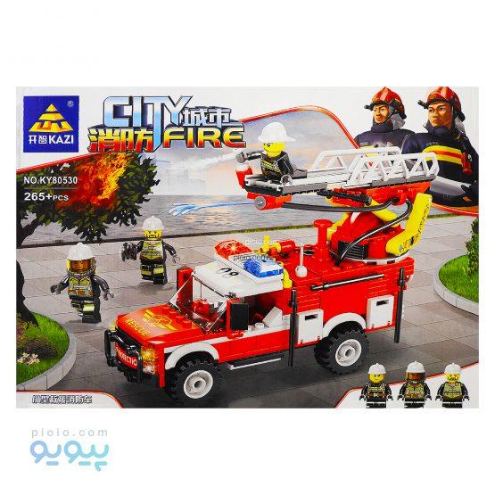 لگو ماشین آتش نشانی 265 قطعه کد KY80530