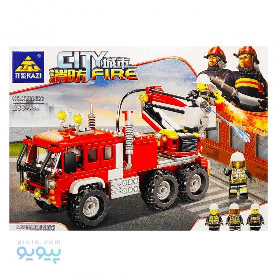 لگو 256 قطعه کامیون آتش نشانی کد KY80526