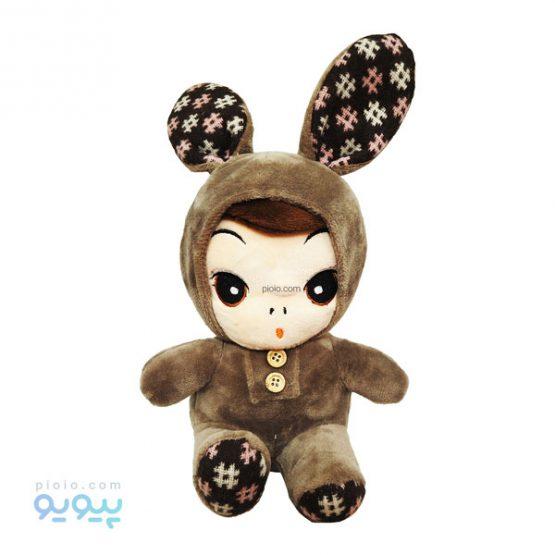 عروسک نوزاد با لباس خرگوشی نرمالو