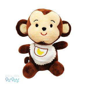 عروسک نوزاد میمون با پیشبند موزی