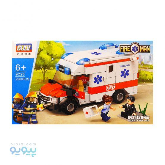 لگو ماشین آمبولانس برند GUDI کد 9920